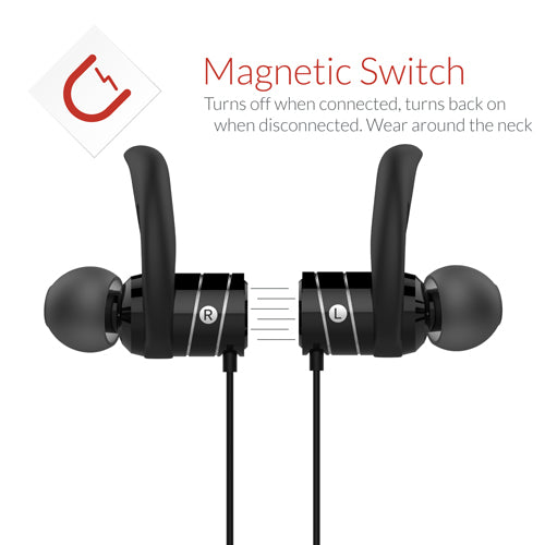 Black Bluetooth earphones Crave Octane Earbuds headphones wireless var-8119671160945