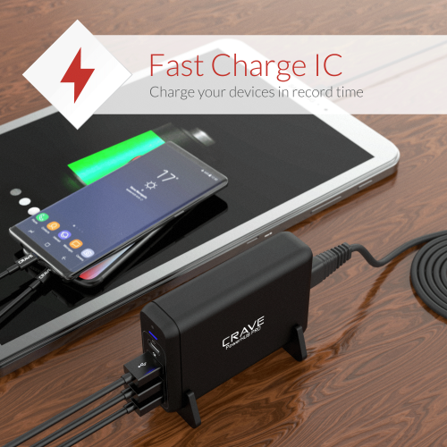 USB Desktop Charger 4 port with PD Type C Power Hub Pro by Crave