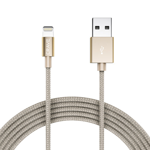 Apple MFI Lightning Cable by Crave Gold var-5012099694633