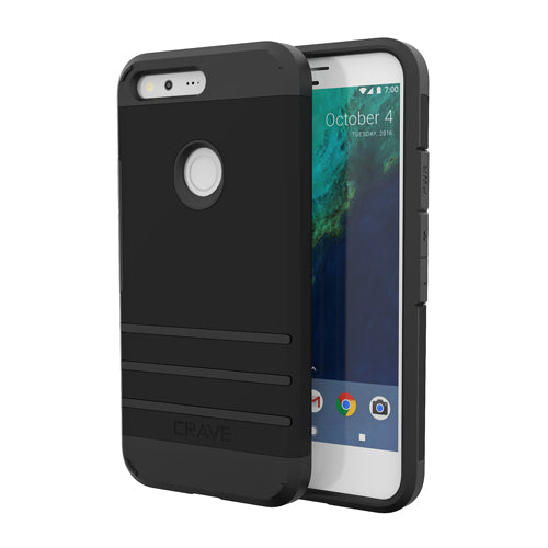 Black Google Pixel Case Strong Guard Cover by Crave var-8119600545905