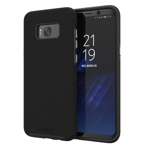 black samsung galaxy s8 plus case cover by crave  eight var-8116733018225