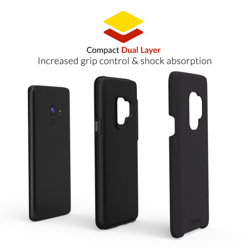 black samsung galaxy s9 case cover by crave dual guard nine var-8116732854385