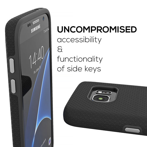 Black Samsung Galaxy S7 Case Thin Dual Guard Cover by Crave var-8116733476977
