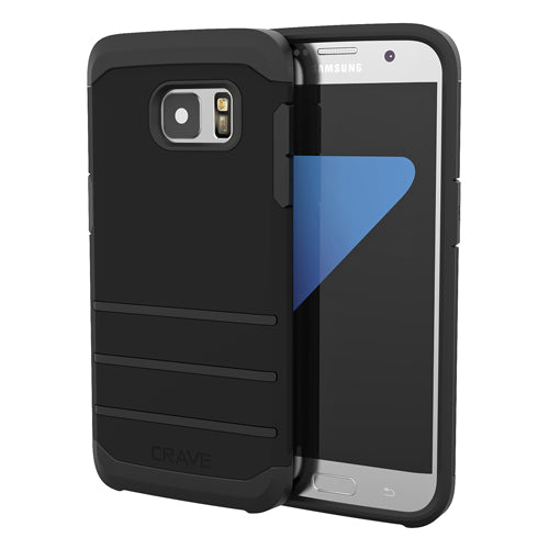 Black Samsung Galaxy S7 Edge Case Strong Guard Cover by Crave var-8116749959281