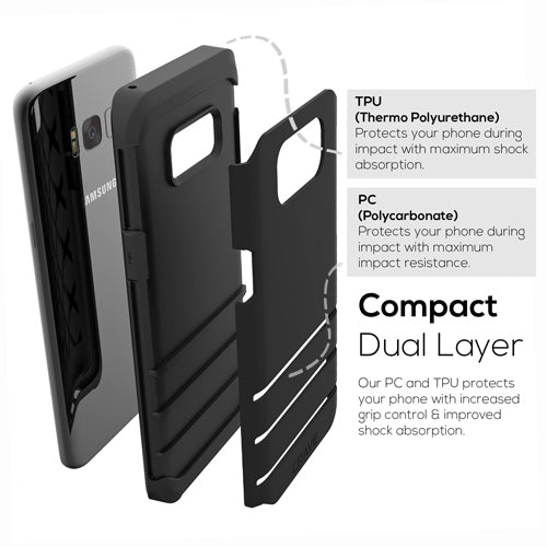 Black Samsung Galaxy S8 Plus Case Strong Guard Cover by Crave var-8116749566065