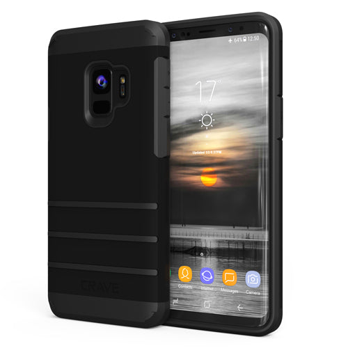 Black Samsung Galaxy S9 Case Strong Guard Nine Cover by Crave var-8116749369457