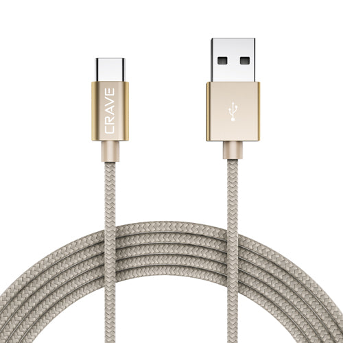 USB to Type C Braided Cable by Crave Gold var-5011847905321