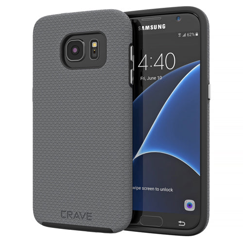 Grey Gray Samsung Galaxy S7 Case Thin Dual Guard Cover by Crave var-8116733509745