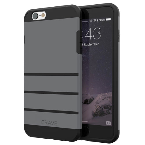 Grey Gray Apple iPhone 6 6s Case Cover Crave Strong Guard var-4931112239145
