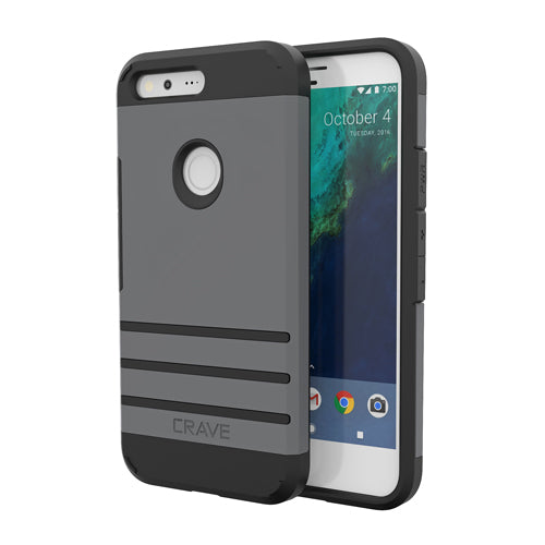 Grey Gray Google Pixel Case Strong Guard Cover by Crave var-8119600513137
