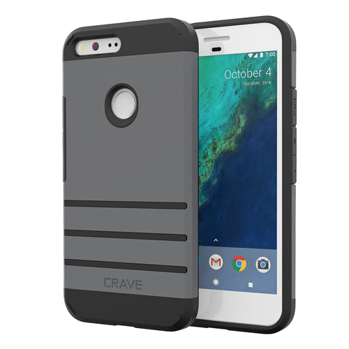 Grey Gray Google Pixel XL Case Strong Guard Cover by Crave var-8119600480369