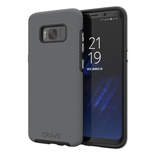 grey gray samsung galaxy s8  case cover by crave slate eight var-8116733182065