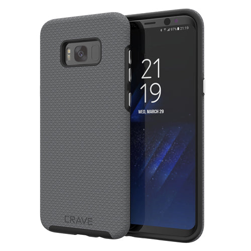 grey gray samsung galaxy s8 plus case cover by crave slate eight var-5012561887273