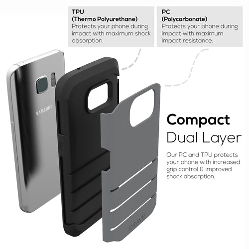Grey Gray Samsung Galaxy S7 Edge Case Strong Cover by Crave var-8116750024817