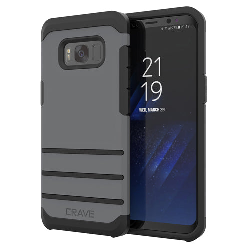 Grey Gray Samsung Galaxy S8 Case Strong Guard Cover by Crave var-8116749664369