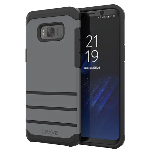Grey Gray Samsung Galaxy S8 Plus Case Strong Cover by Crave var-8116749533297