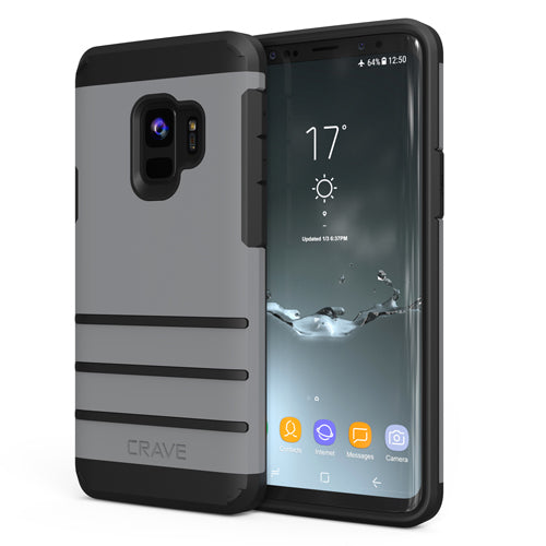 Grey Gray Samsung Galaxy S9 Case Strong Nine Cover by Crave var-8116749467761