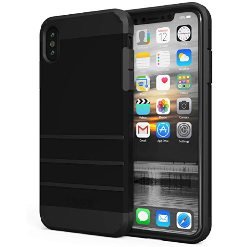 iPhone XS MAX Strong Guard Case by Crave for Apple iPhone Protection Cover Black var-16448760709233