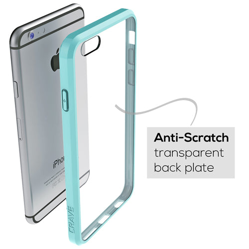 Mint Green Apple iPhone 6 6s Case Crave Slim Guard Clear Teal Cover var-4929502969897