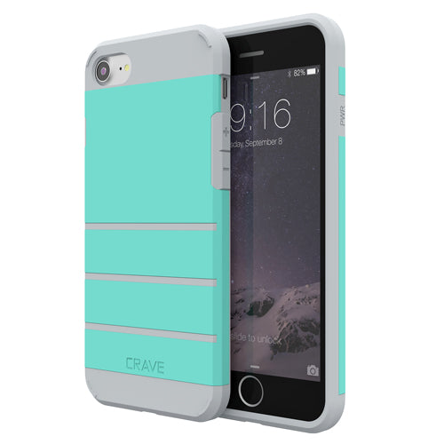 Mint Green Apple iPhone 7 8 Case Cover Crave Strong Guard var-4931111878697