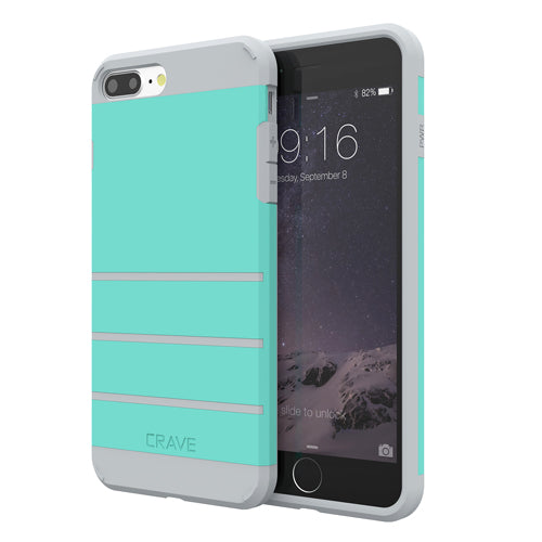 Mint Green Apple iPhone 7 8 Plus Case Cover Crave Strong Guard var-4931111813161