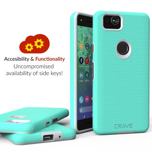 Mint Green Google Pixel 2 Case Two Dual Guard Cover by Crave var-8119624564849