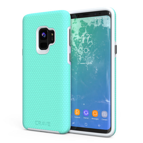 mint green samsung galaxy s9 case cover by crave dual guard nine var-8116732887153