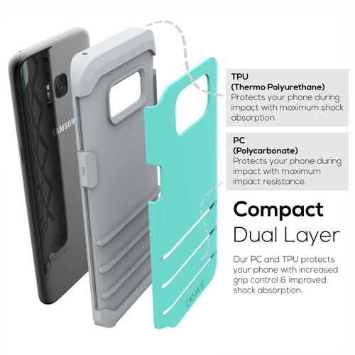Mint Green Samsung Galaxy S8 Case Strong Guard Cover by Crave var-8116749729905