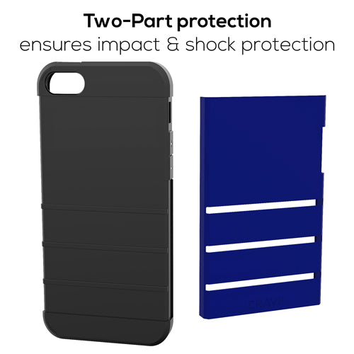 Navy Blue Apple iPhone 5 5s SE Case Cover Crave Strong Guard var-4931112337449