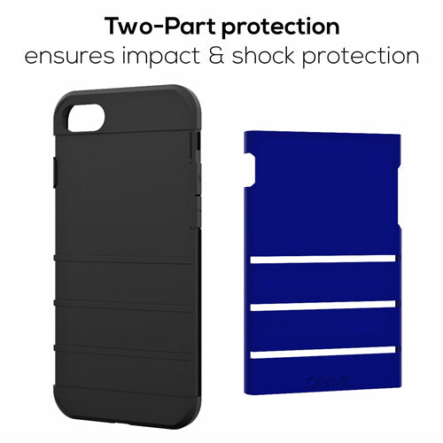 Navy Blue Apple iPhone 7 8 Case Cover Crave Strong Guard var-4931111944233