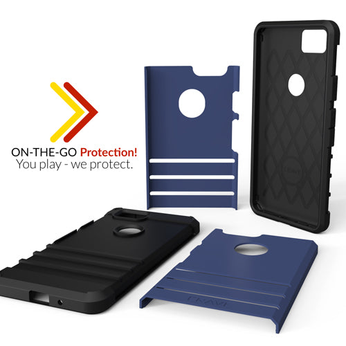 Navy Blue Google Pixel 2 Case Two Strong Guard Cover by Crave var-8119600775281