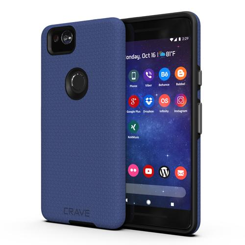 Navy Blue Google Pixel 2 Case Two Dual Guard Cover by Crave var-8119624597617
