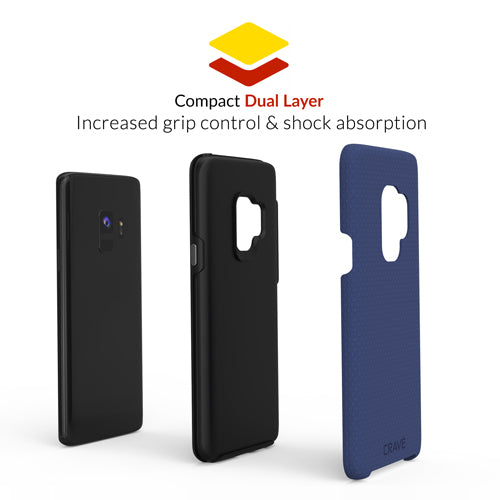 navy blue samsung galaxy s9 case cover by crave dual guard nine var-8116732919921