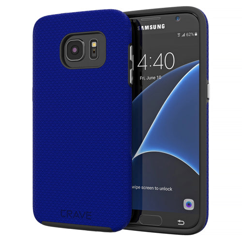 Navy Blue Samsung Galaxy S7 Case Thin Dual Guard Cover by Crave var-8116733542513