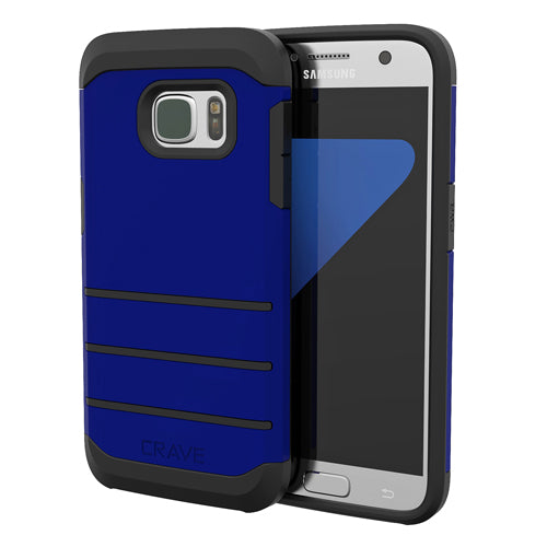 Navy Blue Samsung Galaxy S7 Edge Case Strong Cover by Crave var-8116749992049
