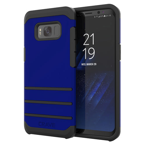 Navy Blue Samsung Galaxy S8 Case Strong Guard Cover by Crave var-8116749631601