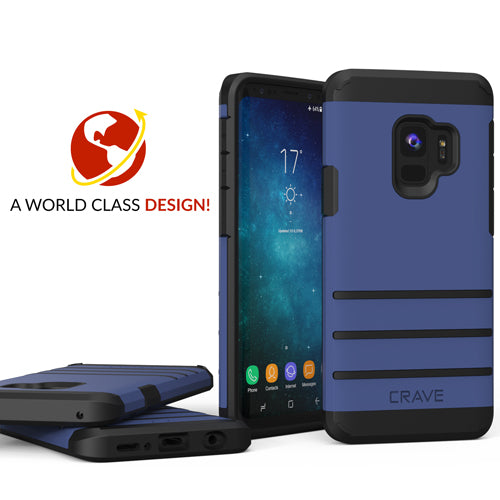 Navy Blue Samsung Galaxy S9 Case Strong Nine Cover by Crave var-8116749434993