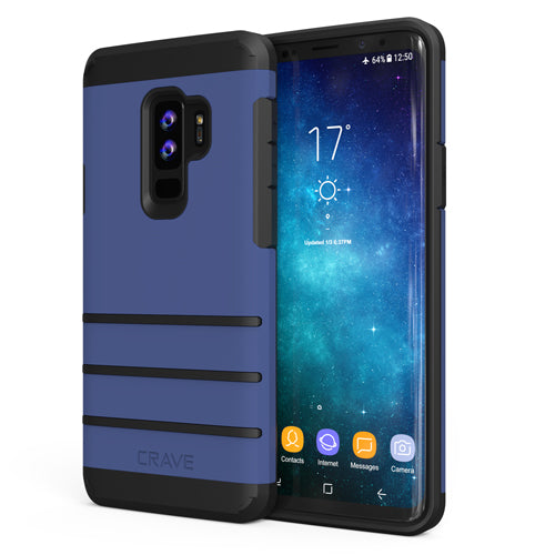 Navy Blue Samsung Galaxy S9 Plus Case Strong Cover by Crave var-8116749303921