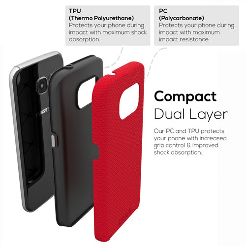 Red Samsung Galaxy S7 Case Thin Dual Guard Cover by Crave var-8116733444209