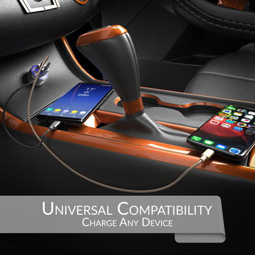 2 Port Usb Car Charger Dualhub 24w 48a Crave Direct