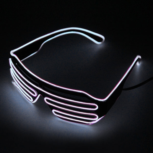 Riding Glasses  LED Glasses Light Up Shades Flashing Rave Wedding Party Glasses New