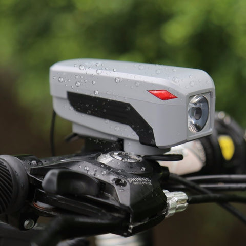 Bicycle LED Light Speaker Bicycle Light Micro USB Charging Bike Front Head Light