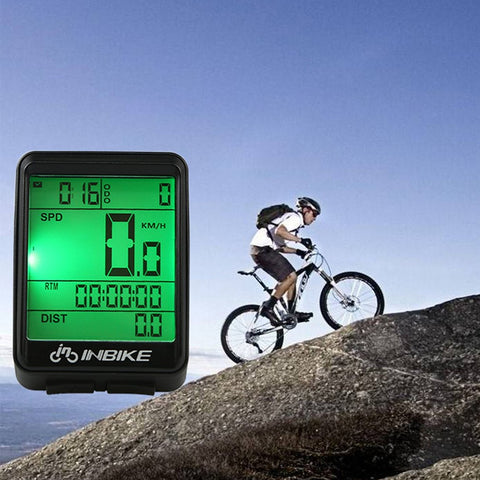 Cycling Bike Computer Bicycle LED Speedometer Odometer LCD Screen Waterproof Tachometer