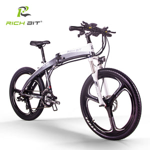 RichBit New RT-880 Electric Folding Road/Mountain Hybrid Electric Bicycle inFrame Inside Li-on 36V*250W 9.6Ah Battery