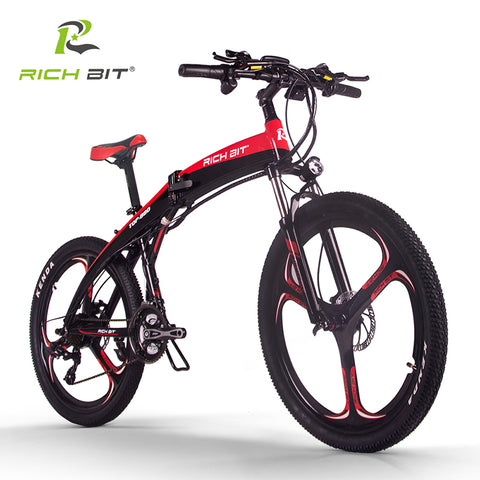 RichBit New RT-880 36V*250W Folding Mountain/ Road Hybrid Electric Bicycle inFrame Li-on 9.6Ah Battery