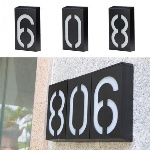 LED Door Sign Lamp House Number Outdoor Lighting Porch Light
