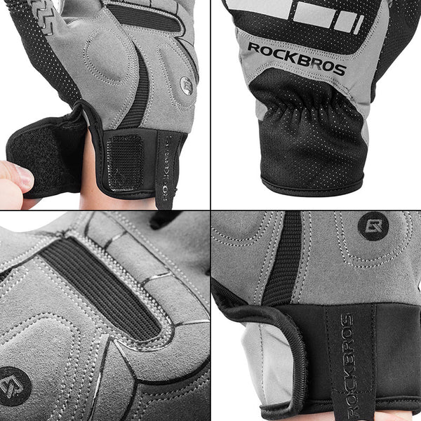 ROCKBROS Cycling Bicycle Gloves Touch Screen Thermal Thick Sport Gloves Equipment