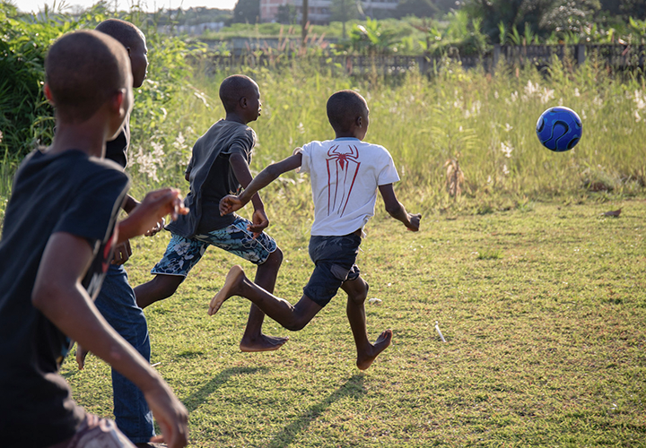 Give Soccer Balls and Toys to Rescued Children