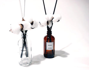 Limited Edition Cotton Flower & Black Stick Amber Reed Diffuser