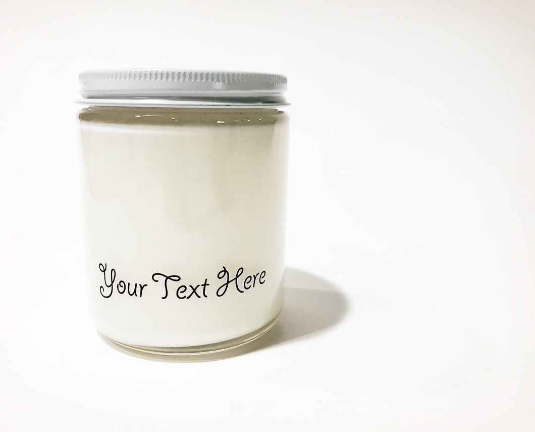 Personalized Clear Jar Candle 9 oz